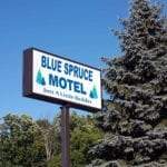 blue=spruce-sign
